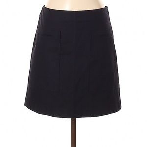 Theory Dark Blue A-Line Casual Skirt